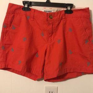 Old navy Coral anchor shorts